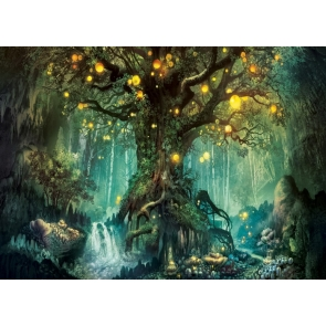 Fairy Tale World Big Tree Forest Wonderland Backdrop Party Stage Studio Photography Background