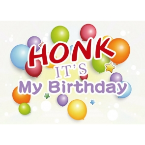 Balloon Theme Photography Background Honk It's My Birthday Party Backdrop