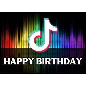 TikTok Happy Birthday Party Backdrop Decor Photography Background Prop