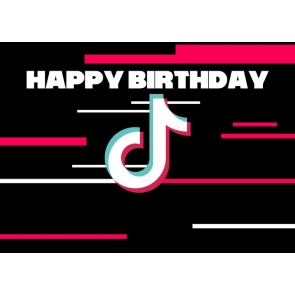 Happy Birthday Party TikTok Backdrop Decor Photography Background Prop
