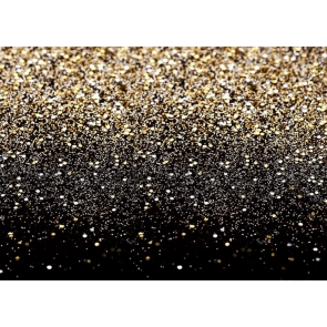 Glod And Black Bokeh Shinning Sparkle Glitter Backdrop Birthday Party Portrait Photography Background Decoration Prop