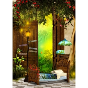 Fairy Tale Bedroom Backdrop Studio Photography Background Decoration Prop