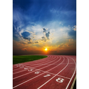Playground Athletic Sports Race Track Field Backdrop Party Event Photography Background