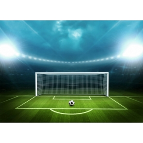 Football Goal Backdrop Playground Athletic Sports Field Party Event Photography Background