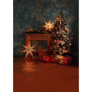 Retro Texture Wall Christmas Tree Backdrop Stage Photo Booth Photography Background