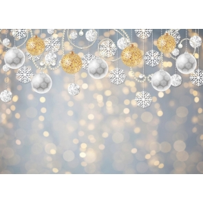 Snowflake Glitter Bokeh Christmas Party Backdrop Stage Photography Background