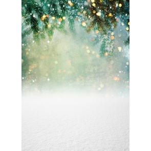 Glitter Bokeh Snowflake Christmas Party Backdrop Stage Photography Background