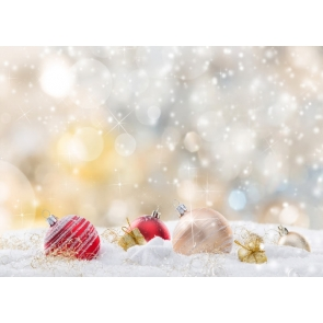Snowflake Glitter Bokeh Christmas Party Backdrop Photo Booth Stage Photography Background