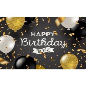 Balloon Theme Happy Birthday To You Backdrop Photography Background