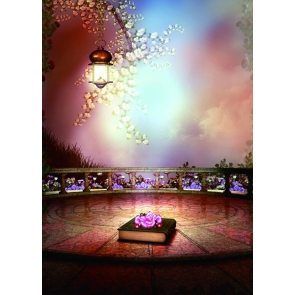 Simple Beautiful Game Altar Stage Background Halloween Backdrops