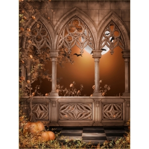 Medieval Retro Building Halloween Backdrop Decorations