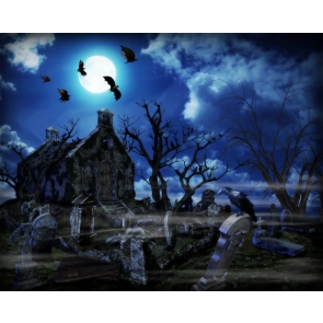 Deserted Horror Scary Halloween Background Decorations Party Backdrop