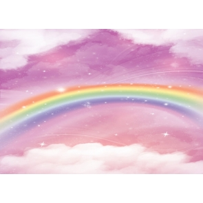 Rainbow Clouds Sky Backdrop Newborns Baby Shower Birthday Party Background